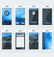 Set of of modern smartphone with apps flat vector