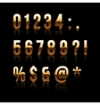 Gold font set 2 file contains graphic style vector