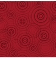 Abstract red circle seamless background vector