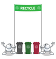 Man banner recycle vector