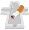 Ashtray with cigarette vector