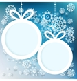 Blue and white winter with snowflakes eps 10 vector