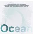 Design ocean poster vector