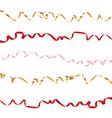 Ribbon set on white background vector