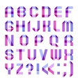 Spectral letters folded of paper ribbon-purple vector