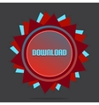 Red style star with label sign download vector