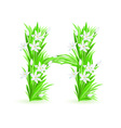 Spring flowers alphabet h vector
