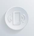 Circle icon a ringing phone the call vector
