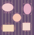 Set of cute hand-drawn retro frames vector