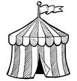 Doodle circus tent vector