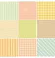 Set of nine geometric seamless patterns vector
