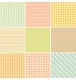 Set of nine geometric seamless patterns vector