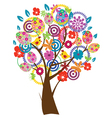 Easter beautiful tree vector