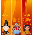 Vertical thanksgiving banners vector