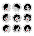 Woman hair pics 2 vector