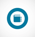 Notepad bold blue border circle icon vector
