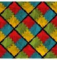 Grunge rhombus seamless pattern vector