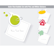Set of speech bubbles white stickers vector
