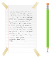 Abstract note and pen vector