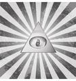 Pyramid eye vector