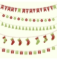 Christmas garlands vector