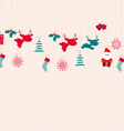 Christmas icons seamless pattern vector