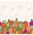 Decorative vegetables background vector