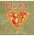 Retro pizza menu template vector