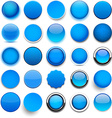 Round blue icons vector