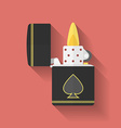 Icon of zippo lighter flat style vector