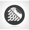 Jellyfish black round icon vector