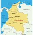 Republic of colombia - map vector