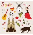Spain set vector