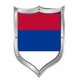 Serbia flag button vector