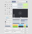 Web design elements set vector