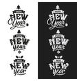 Happy new year hand lettering set vector