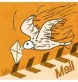 Yellow bird letter vector