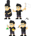 Spiky rocker boy customizable mascot 6 vector