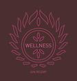 Floral logo template for wellness salon spa center vector