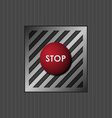 Red button with the word stop vector