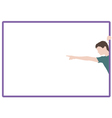 Silhouette of pointing boy vector