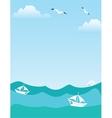 Sea or ocean landscape vector