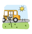 Bus school design vector
