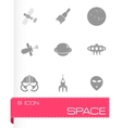 Space icon set vector