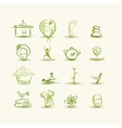 Massage and spa set of icons for your design vector