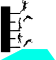 Jump into pool vector