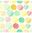 Seamless pattern with abstract polka dot ornament vector