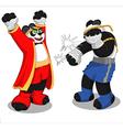 Panda muay thai2 vector