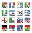 Football flag icons vector