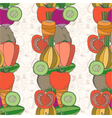 Seamless pattern of vegetables vector